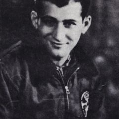 1st Lt. Daniel DeLeo in Italy wearing a B10 Air Force jacket with the battalion' pocket patch.