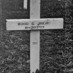 Wood Hoerg' grave at Henri Chapelle. In April, 1948, his body was brought home from Belgium and reburied in his home town.