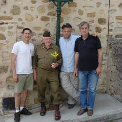 Sam Magee with the organisors of Sam' Southern France trip (Gilles Guignard)